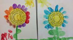 End of Year Keepsake (from Kinderdi) flower craft, idea june, art project, year keepsak, word art, art flowers, year activ, graduat idea