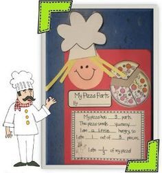 First Grade Fever!: Yummy Pizza Parts! {Fractions}