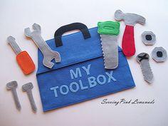 Felt Toolbox for quiet book? Templates  instructions