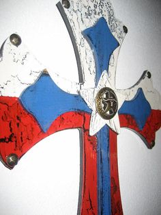 Wooden Wall Cross of Texas by cthorses66 on Etsy, $35.00