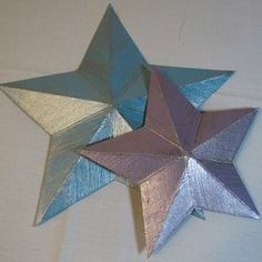 3D star from a cereal box - Follow @Guidecentral for amazing #crafts and #DIY ideas