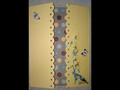 Sunny Summer Gate Fold Card    Gatefold card is made easily by using a Scor-Pal http://www.dinglefoot.com/scor-pal-measuring-and-scoring-board/