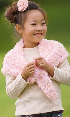 novelty yarn kid's #crochet shawl