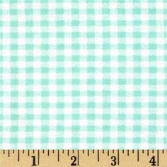 Aunt Polly's Flannel Gingham Mint/White