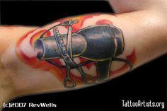 hairdresser tattoo designs - Google Search
