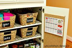 Back to school pantry organization