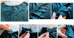 VillarteDesign Artesanato: Customização de Camisetas - Como fazer uma trança na gola de sua camiseta