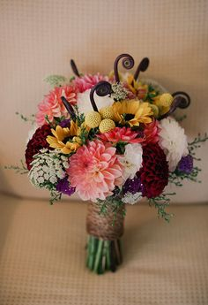 Dahlia wedding bouquet   Photo by Michele M. Waite