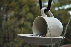 Bird feeder... This is sooo cute!!!!