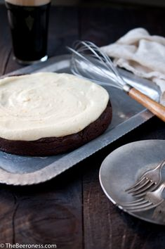 Flourless Chocolate Stout Cake with Orange Mascarpone Frosting_