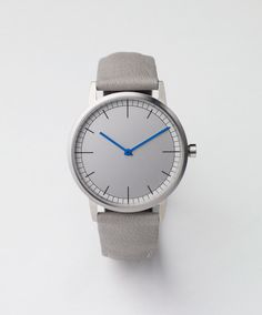Uniform Wares wristwatch | 152 Series Brushed Steel / Grey Goat Leather