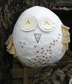 School owls for Diy paper mache owl
