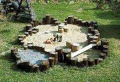 Gravel & stumps playscape