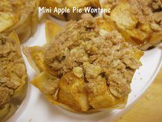 Mini Apple Pie's (in Wonton Wrapper)