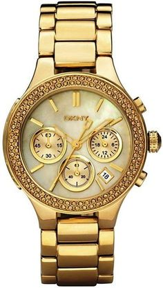 I'm not even a yellow gold fan but this Dkny watch.is gorgeous