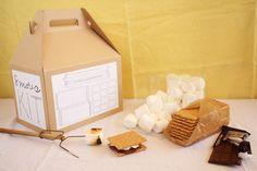 party favors, diy kits, camp, printable labels, gift ideas, smore kit, diy smore, hostess gifts, parti