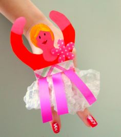 Ballerina hand puppet, great project for kids