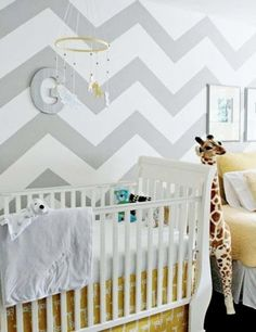 love this nursery--and especially the walls