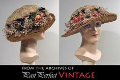 love this vintage straw hat