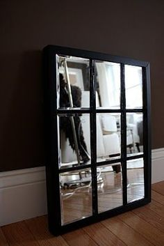 Do this with an old window and Krylon Mirror paint!