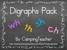 Digraphs Pack - wh, th, sh, ch