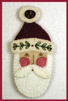 Santa craft, treat bags, father christmas, art, felt ornaments, claus, christma ornament, christmas ornaments, felt santa