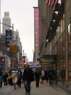 The iconic Radio City Music Hall.