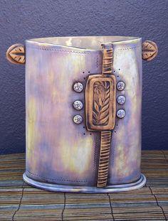 Tall Ferny Vase. Polka Dot Clay Studio