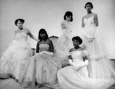 so pretty!  Harlem Debutante Cotillion, c 1950s