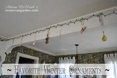 Minerva's Garden:  Favorite Winter Ornaments