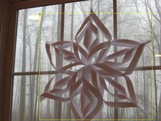 Homemade 3D snowflakes