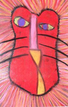 2nd grade art. Oil pastel animals.