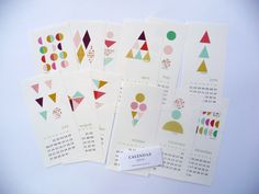 2014 Geometric Calendar wall calendar 2014 by mademoiselleyo