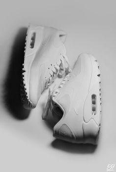 All white Nike AM 90's. #sneakers