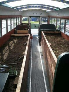 An old bus becomes a new greenhouse!  Reuse your imagination in this month's #CreativeReuse Contest, here ➞ http://on.fb.me/1cTMWRa