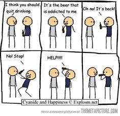 You should quit drinking…