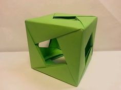 Easy, Plain Diamond Window Origami Cube - YouTube