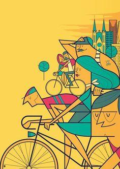 São Paulo Pedalar 2014 official poster and merchandising (©EsferaBR Midia) by http://alegiorgini.com/