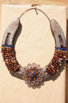 ReclaimedHand Decorated Horseshoe by RusticLuck on Etsy, $25.00