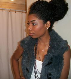 Chime's twist out bun...lovely.