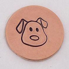 5mm Dog Face Metal Design Stamp - Metal Jewelry Stamping Tool The Urban Beader