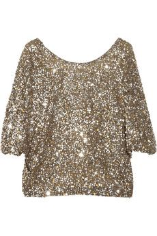 Sequined crepe T-shirt