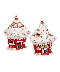 Lighted Cupcake House Ornament Set