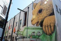 Da un muro di Drogheda, Irlanda (#streetArt by EricaIlCane) http://ilgorgo.com/ericailcane-new-mural-at-drogheda-arts-festival/