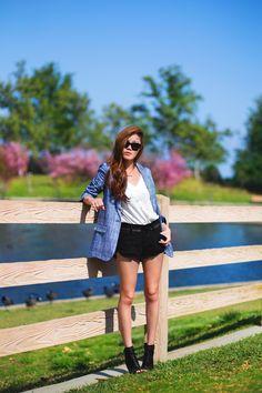 @Tsangtastic in #HudsonJeans Rebel #Cutoff #Shorts! Sweet & Sassy!