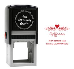 Personalized Vine Duo Self Inking Stamper