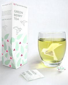cup, bird, gift, tea bag, origami tea, drink, inspir, bag design, bags