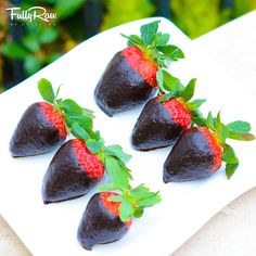 FullyRaw Chocolate Covered Strawberries! New raw vegan recipe here: http://youtu.be/Q0VCyTXitHM