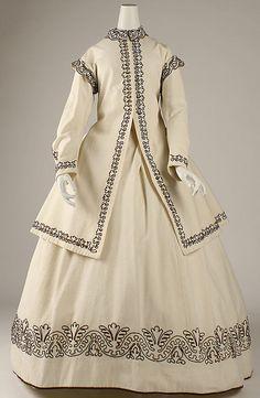 British cotton and wool dress ca. 1865