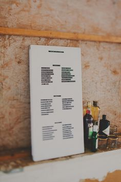 Dymo seating chart // photo by Red White & Green Photography // http://ruffledblog.com/nature-inspired-autumn-wedding